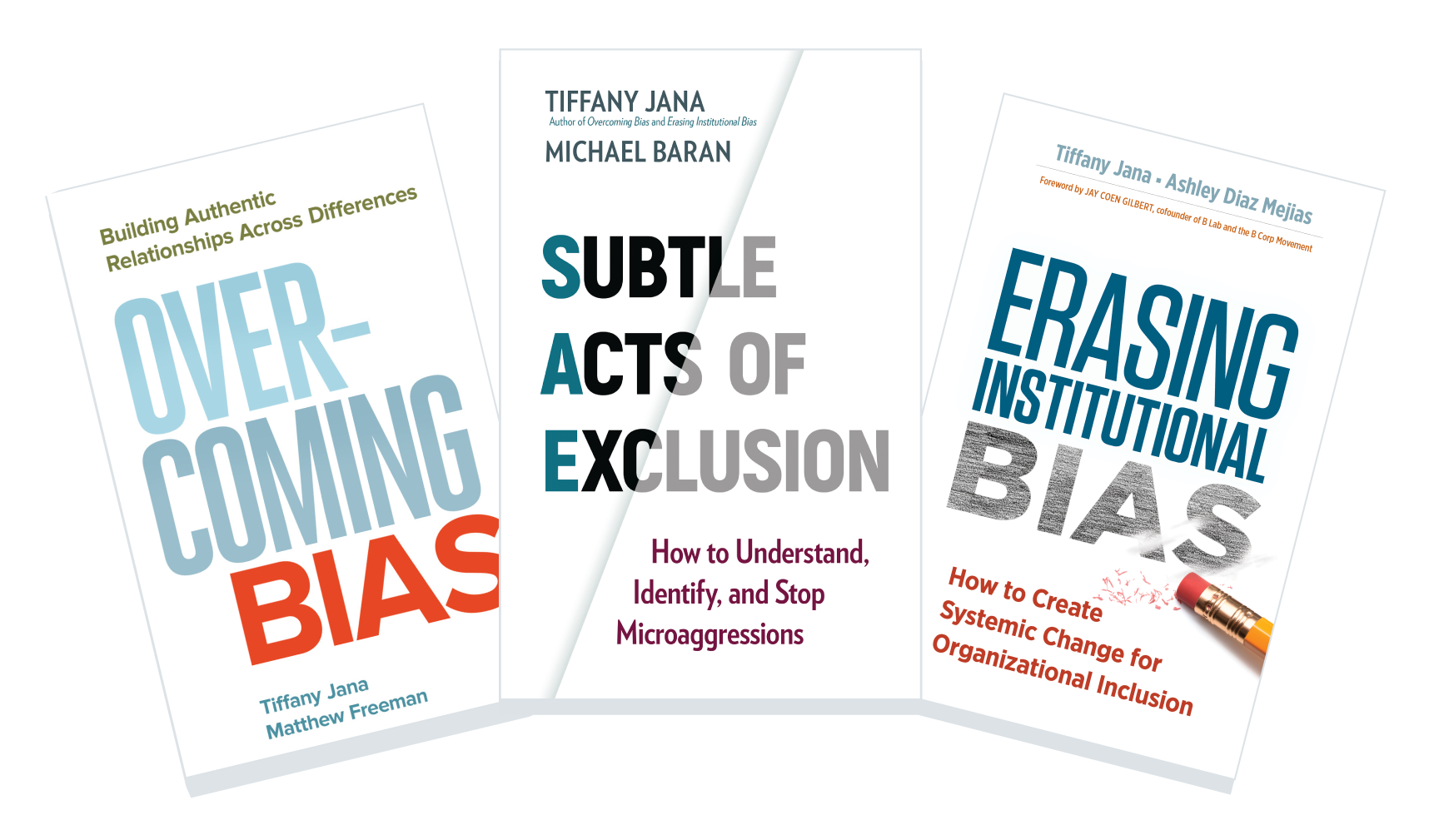 three books on overcoming bias, subtle acts of exclusion, and erasing institutional bias