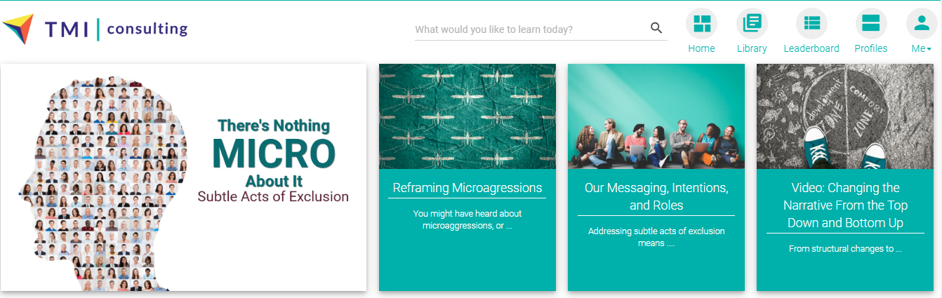 Blue Ocean Brain offers micro-learning modules on subtle acts of exclusion